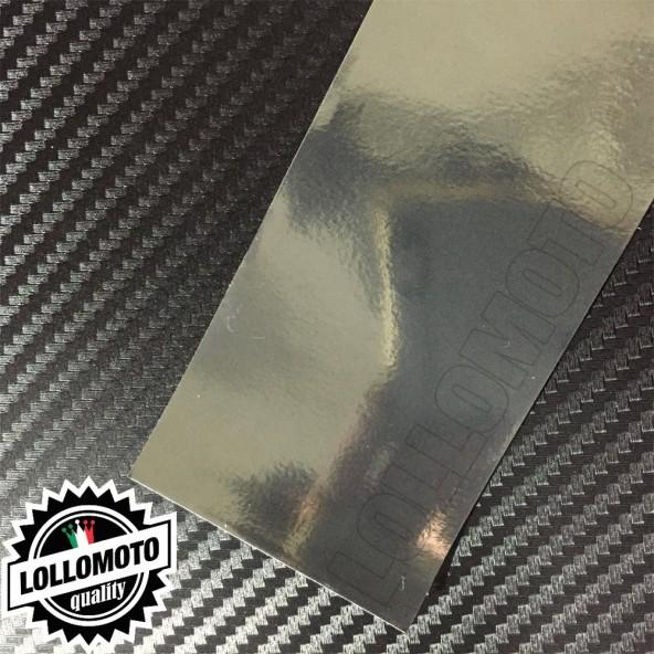 Cromato Steel Lucido Pellicola APA® Cast Professionale Adesiva Rivestimento Car Wrapping