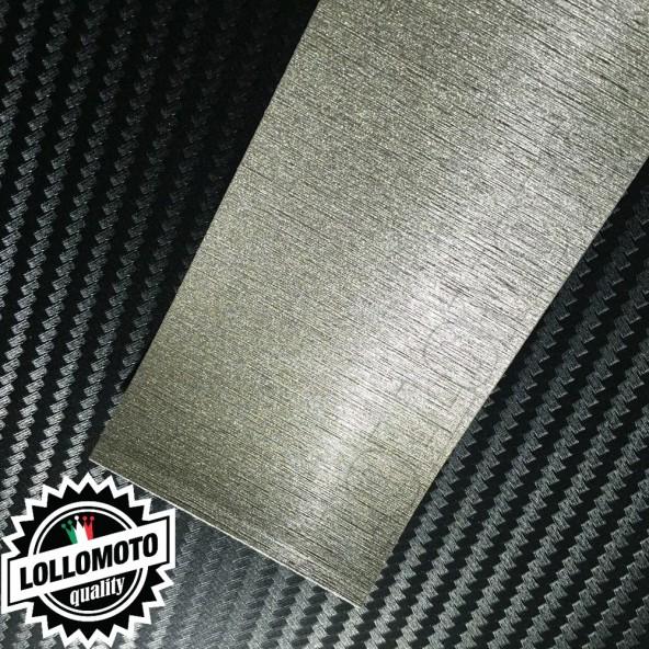 Platinum Grey Spazzolato Pellicola Cast Professionale Adesiva