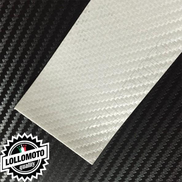 Carbonio 3D Bianco Perla Pellicola Cast Professionale Adesiva