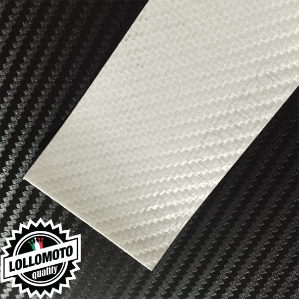 Carbonio 3D Bianco Perla Pellicola APA® Cast Professionale Adesiva Rivestimento Car Wrapping