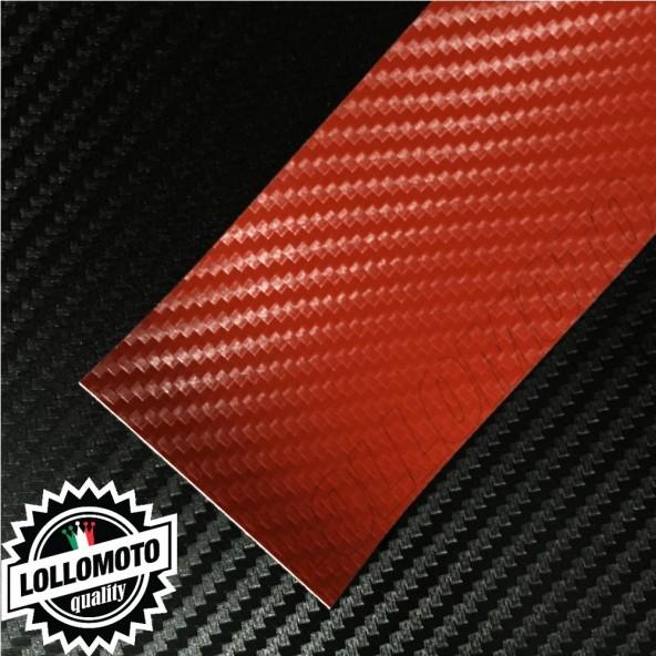 Carbonio 3D Rosso Pellicola Cast Professionale Adesiva
