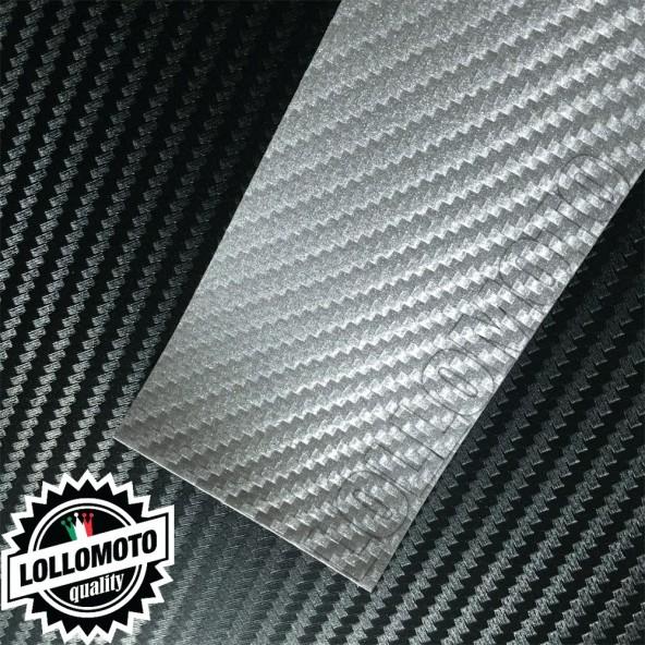 Carbonio 3D Silver Pellicola APA® Cast Professionale Adesiva Rivestimento Car Wrapping