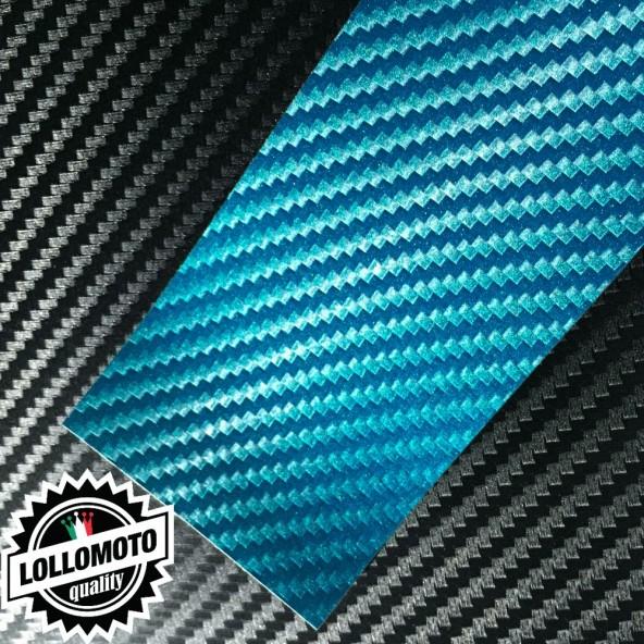 Carbonio 3D Blue Pellicola APA® Cast Professionale Adesiva Rivestimento Car Wrapping
