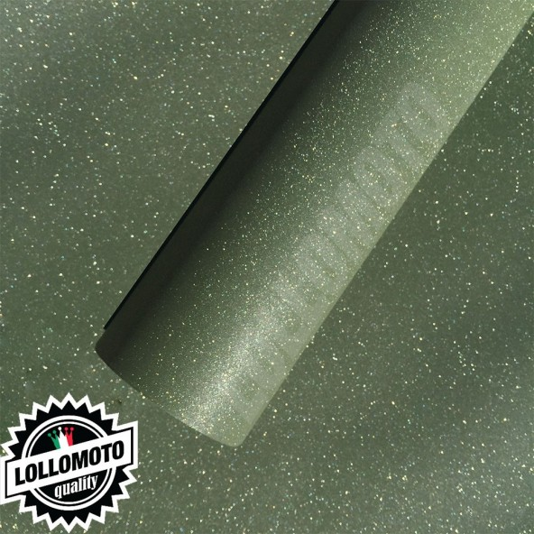 Verde Opaco Glitter Pellicola Adesiva Rivestimento Auto Car