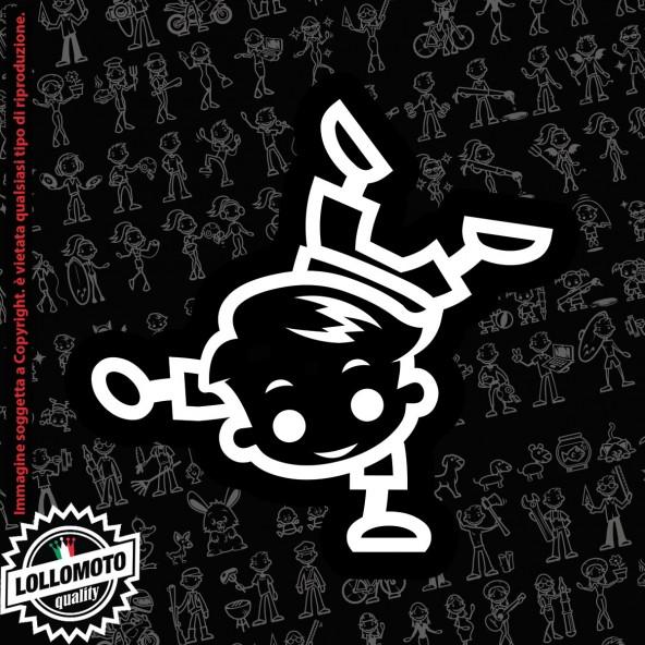 Bambino Angelo StickMan© 2.0 Bianchi e Neri Adesivi Famiglia Vetro Auto Stickers Family Stickers Family Decal