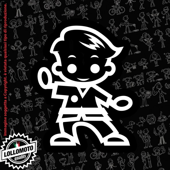 Bambino con Palla StickMan© 2.0 Bianchi e Neri Adesivi Famiglia Vetro Auto Stickers Family Stickers Family Decal