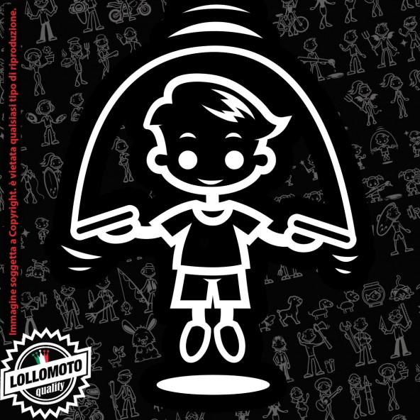 Bambino Karate StickMan© 2.0 Bianchi e Neri Adesivi Famiglia Vetro Auto Stickers Family Stickers Family Decal