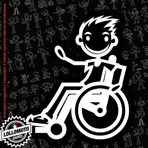 Ragazzo Teppista StickMan© 2.0 Bianchi e Neri Adesivi Famiglia Vetro Auto Stickers Family Stickers Family Decal