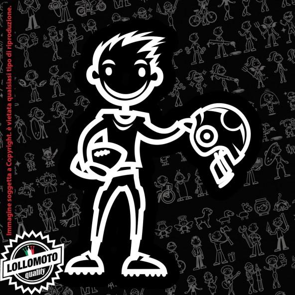 Ragazzo Artista con Pennello StickMan© 2.0 Bianchi e Neri Adesivi Famiglia Vetro Auto Stickers Family Stickers Family Decal