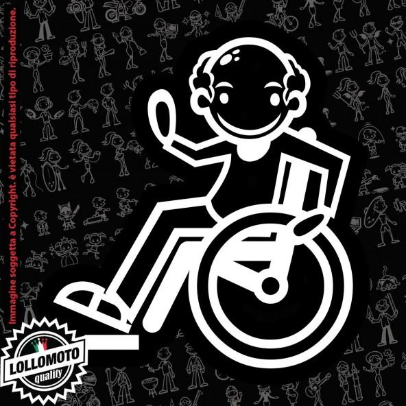 Nonno con Canotta StickMan© 2.0 Bianchi e Neri Adesivi Famiglia Vetro Auto Stickers Family Stickers Family Decal