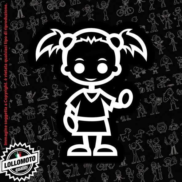 Bambina Principessa StickMan© 2.0 Bianchi e Neri Adesivi Famiglia Vetro Auto Stickers Family Stickers Family Decal