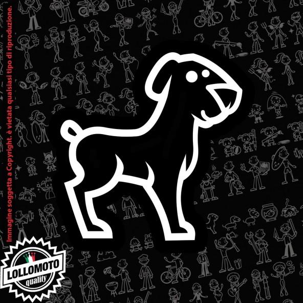 Cane con Osso StickMan© 2.0 Bianchi e Neri Adesivi Famiglia Vetro Auto Stickers Family Stickers Family Decal