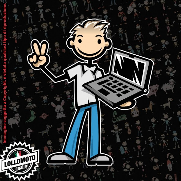 Papà Computers StickMan© 2.0 Colorati Adesivi Famiglia Vetro Auto Stickers Family Stickers Family Decal