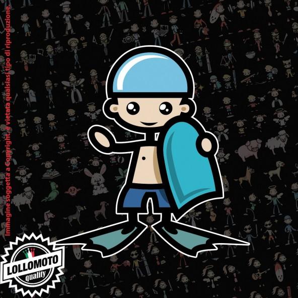Bambino in Piscina StickMan© 2.0 Colorati Adesivi Famiglia Vetro Auto Stickers Family Stickers Family Decal