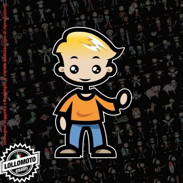 Bambino che saluta StickMan© 2.0 Colorati Adesivi Famiglia Vetro Auto Stickers Family Stickers Family Decal