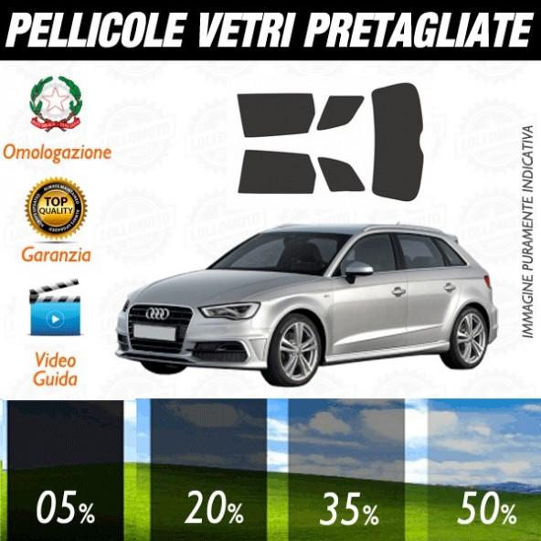 Audi A3 13-16 5P Pellicole Oscuramento Vetri Auto Pre Tagliate