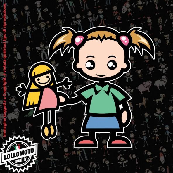 Bambina Principessa StickMan© 2.0 Colorati Adesivi Famiglia Vetro Auto Stickers Family Stickers Family Decal
