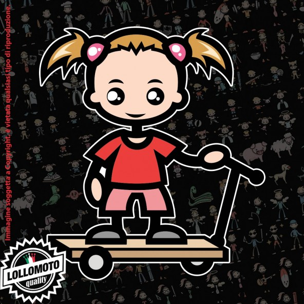 Bambina con Bambolotto StickMan© 2.0 Colorati Adesivi Famiglia Vetro Auto Stickers Family Stickers Family Decal