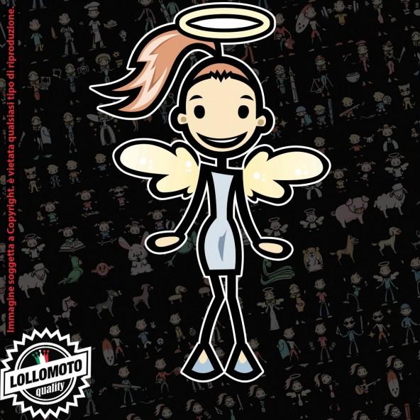 Ragazza angelo Musica StickMan© 2.0 Colorati Adesivi Famiglia Vetro Auto Stickers Family Stickers Family Decal