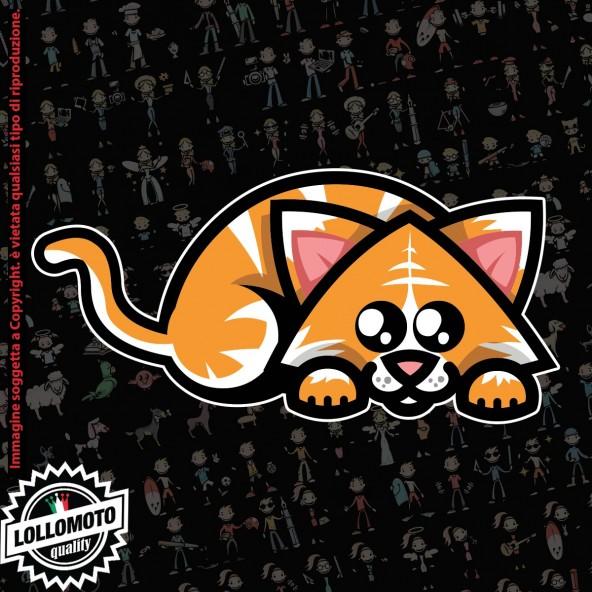 gatto che dorme StickMan© 2.0 Colorati Adesivi Famiglia Vetro Auto Stickers Family Stickers Family Decal