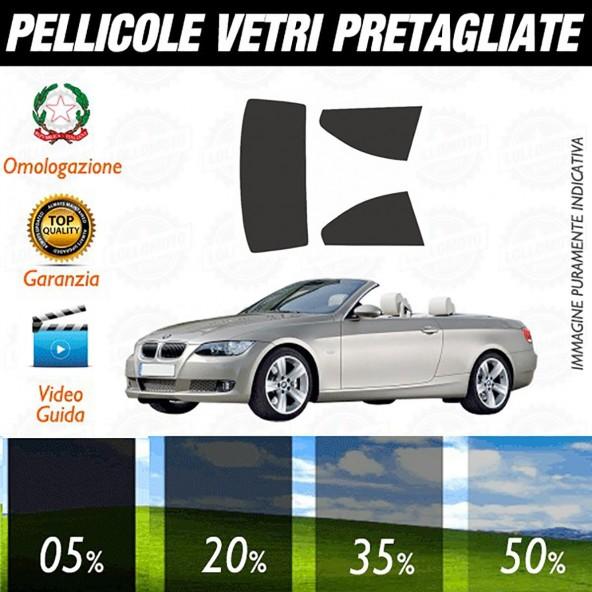Bmw Serie 3 Cabrio dal 2007 aI 2012 Pellicole Oscuramento Vetri Auto Pre Tagliate a Misura