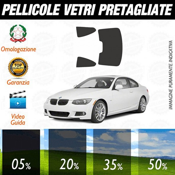Bmw Serie 3 Coupé 07-13 Pellicole Oscuramento Vetri Auto Pre