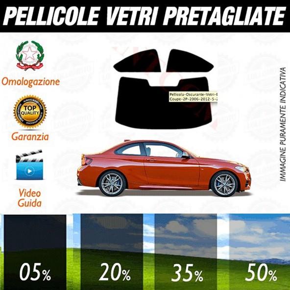 Bmw Serie 2 Coupé dal 2014 ad OGGI Pellicole Oscuramento Vetri Auto Pre Tagliate a Misura