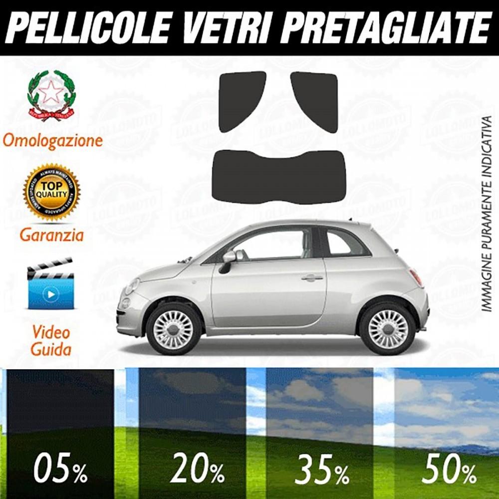 Fiat 500 07-16 Pellicole Oscuramento Vetri Auto Pre Tagliate a