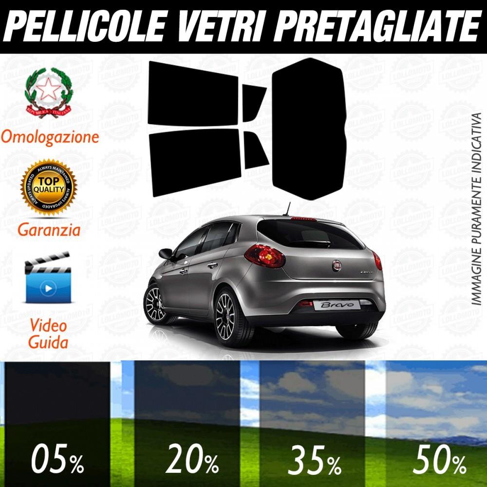 Fiat Bravo 5P 07-16 Pellicole Oscuramento Vetri Posteriori Auto
