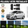 Ford Cmax 13-15 Pellicole Oscuramento Vetri Auto Pre Tagliate a