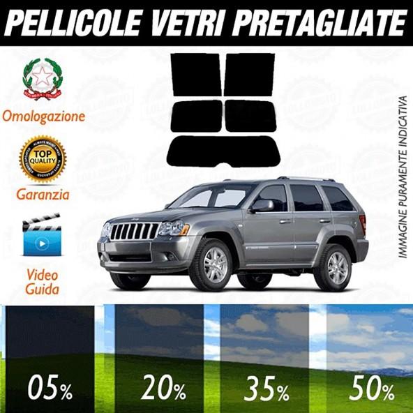 Jeep Grand Cherokee dal 2005 al 2013 Pellicole Oscuramento Vetri Auto Pre Tagliate a Misura