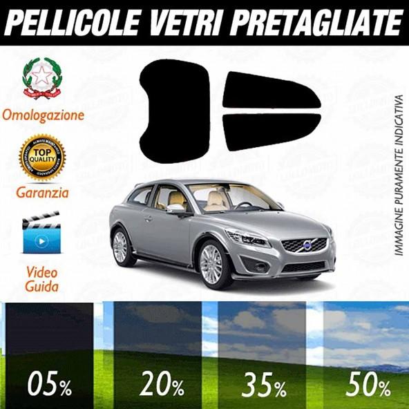 Volvo C30 3P dal 2006 al 2012 Pellicole Oscuramento Vetri Auto Pre Tagliate a Misura
