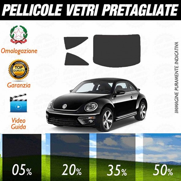 Volkswagen Beatle Coupè 12-16 Pellicole Oscuramento Vetri Auto
