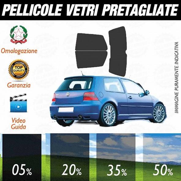 Volkswagen Golf 4 3P dal 1998 al 2003 Pellicole Oscuramento Vetri Auto Pre Tagliate a Misura