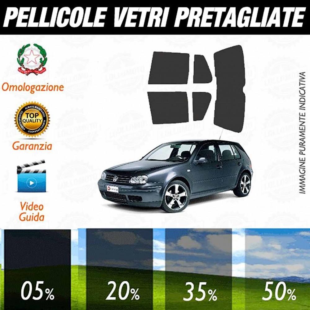 Volkswagen Golf 4 5P 98-03 Pellicole Oscuramento Vetri Auto Pre