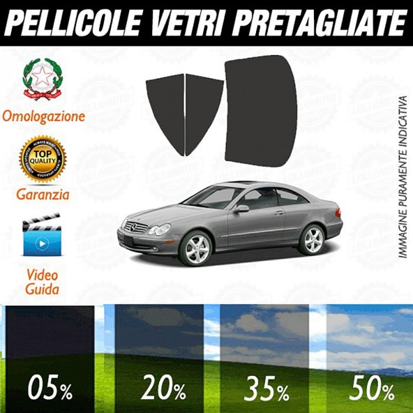 Mercedes Clk Coupé 04-06 Pellicole Oscuramento Vetri Auto Pre