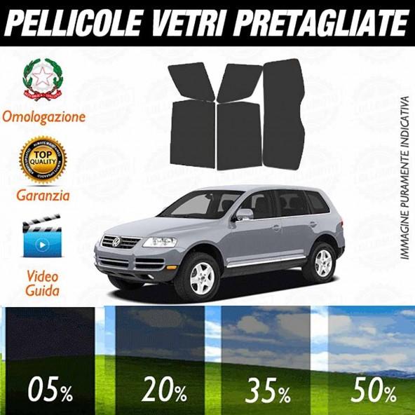Volkswagen Touareg 03-09 Pellicole Oscuramento Vetri Auto Pre