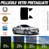 Mercedes Slk Cabrio 05-08 Pellicole Oscuramento Vetri Auto Pre
