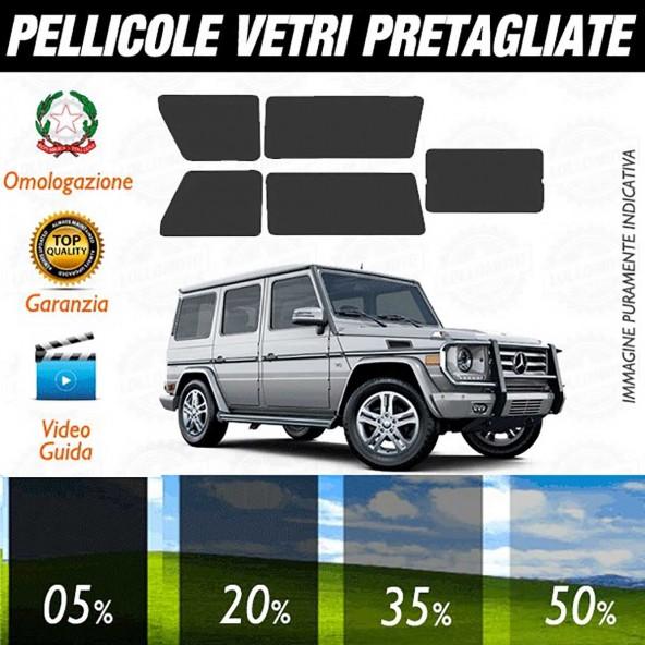 Mercedes G dal 2008 al 2010 Pellicole Oscuramento Vetri Auto Pre Tagliate a Misura