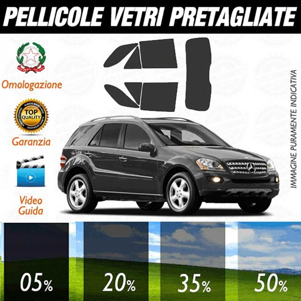 Mercedes Ml 05-11 Pellicole Oscuramento Vetri Auto Pre Tagliate