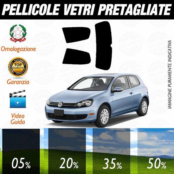 Volkswagen Golf 6 3P dal 2008 al 2012 Pellicole Oscuramento Vetri Posteriori Auto Pre Tagliate a Misura