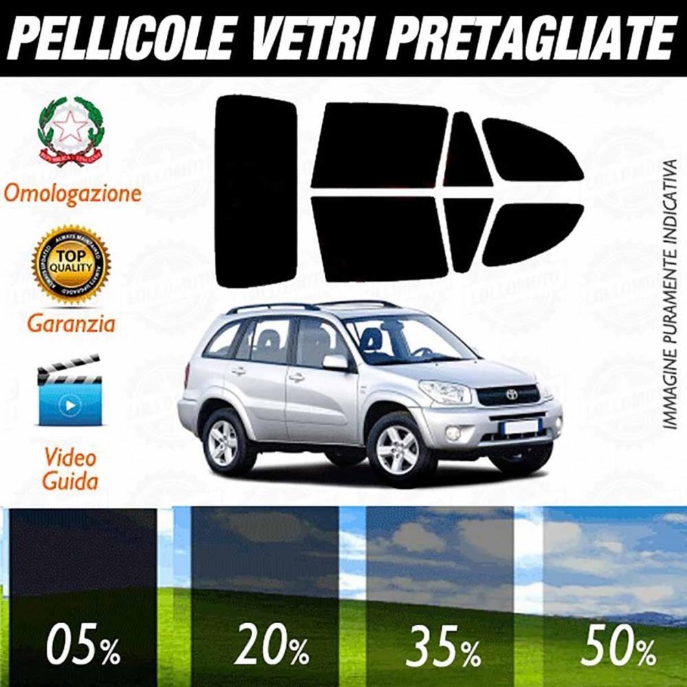 Toyota Rav 4 dal 2000 al 2005 Pellicole Oscuramento Vetri Auto Pre Tagliate a Misura