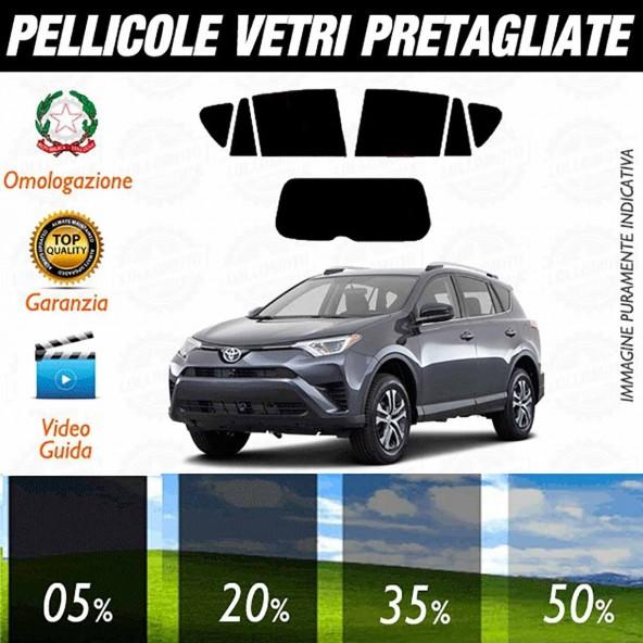 Toyota Rav 4 5P dal 2013 ad OGGI Pellicole Oscuramento Vetri Auto Pre Tagliate a Misura