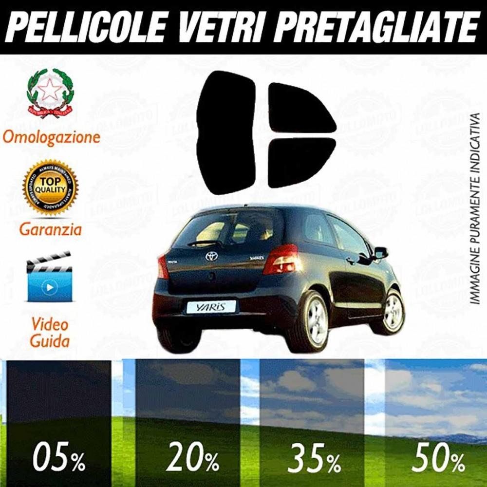 Toyota Yaris 06-10 Pellicole Oscuramento Vetri Auto Pre