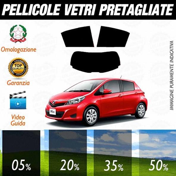 Toyota Yaris 5P dal 2011 ad OGGI Pellicole Oscuramento Vetri Auto Pre Tagliate a Misura