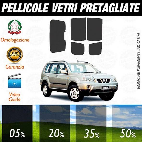 Nissan X-Trail 01-06 Pellicole Oscuramento Vetri Auto Pre
