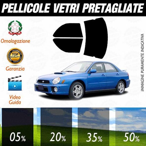 Subaru Impreza Sedan WRX dal 2001 al 2006 Pellicole Oscuramento Vetri Auto Pre Tagliate a Misura