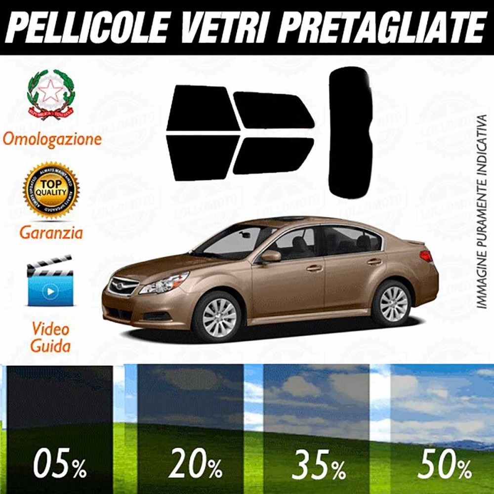 Subaru Legacy Sedan 10-14 Pellicole Oscuramento Vetri Auto Pre