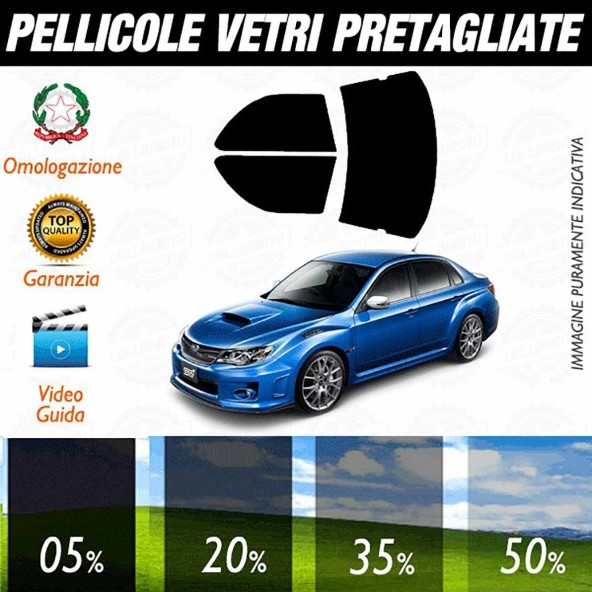 Subaru Impreza Sedan 2012 Pellicole Oscuramento Vetri Auto Pre