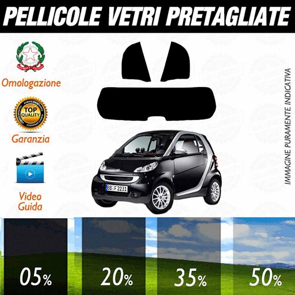 Smart ForTwo 2007-2014 Pellicole Oscuramento Vetri Posteriori